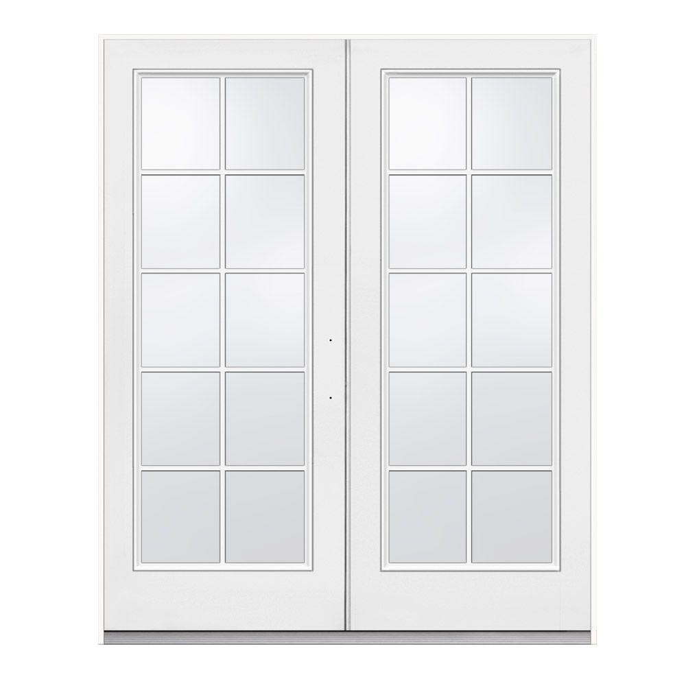 Jeld Wen 72 In X 80 In White Left Hand Inswing French