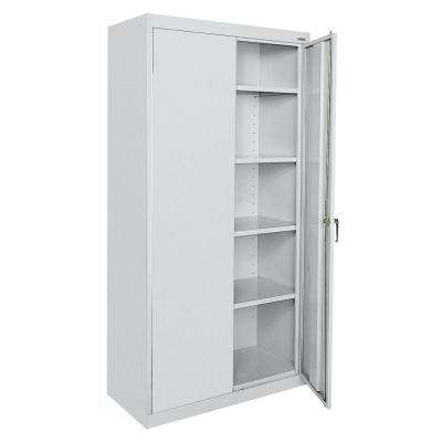 Classic Series 72 in. H x 36 in. W x 18 in. D Steel Frestanding Storage Cabinet with Adjustable Shelves in Dove Gray
