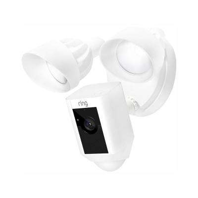 Outdoor Wi-Fi Cam with Motion Activated Floodlight, White (3-Pack)