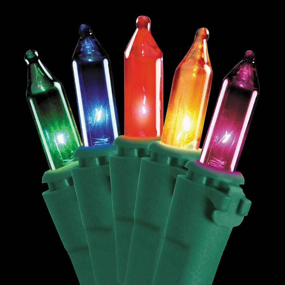 50-Light Multi-color Bulb String Light Set