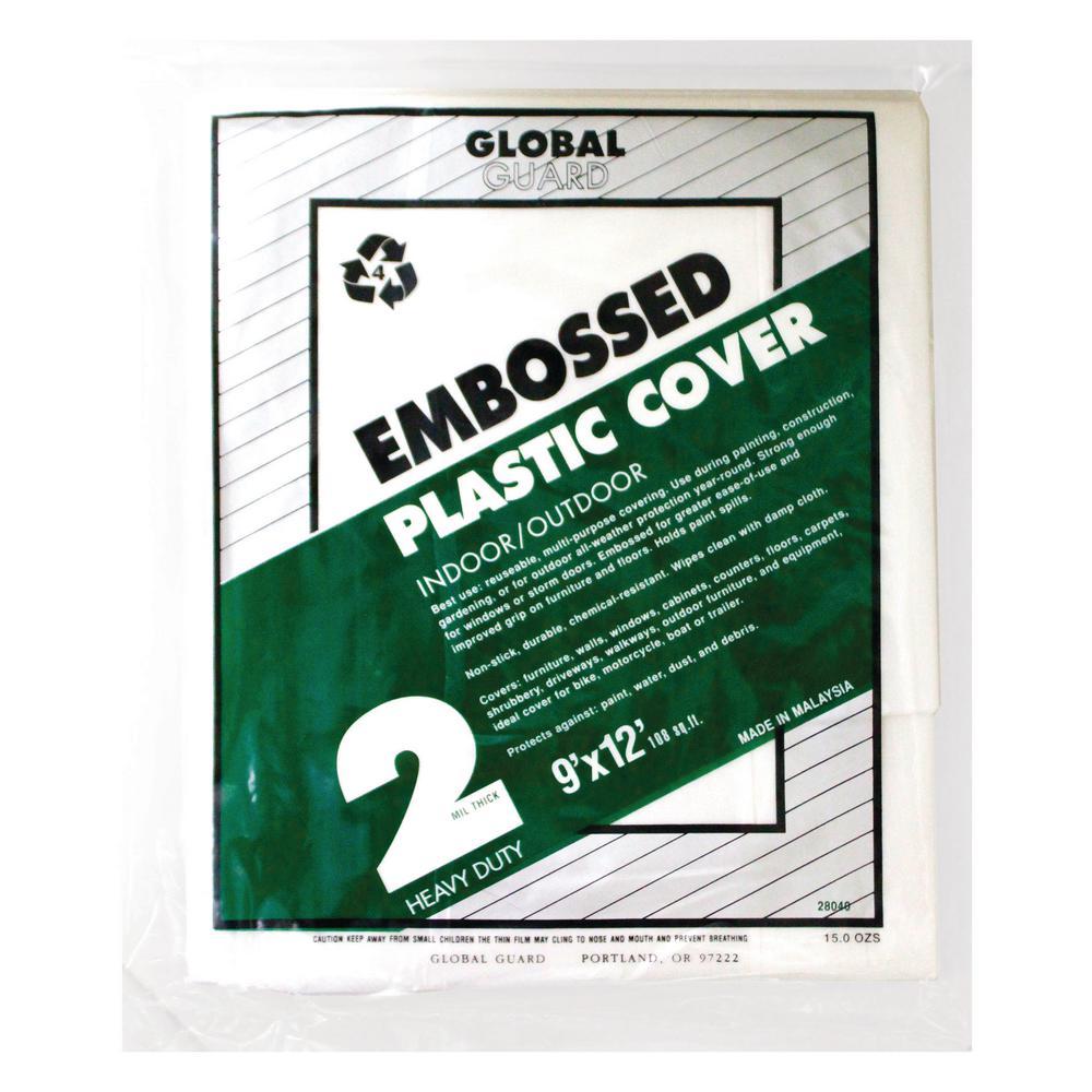 2 mil embossed plastic drop cloth 24