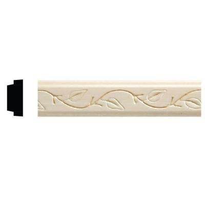 1425-8 3/8 in. x 7/8 in. x 96 in. White Hardwood Embossed Ivy Decorative Moulding