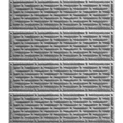 Medium Gray 8.5 in. x 30 in. Mesh Stair Tread Cover (Set of 4)