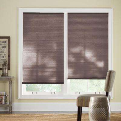 35 in. W x 48 in. L Chocolate Cordless Horizontal Cellular Light Filtering Shade (Actual Size 34.625 in. W x 48 in. L )