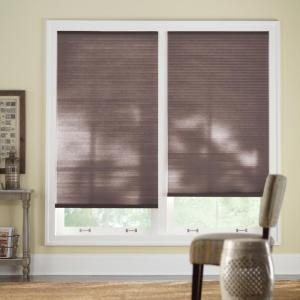 Chocolate Cordless Light Filtering Cellular Shade  - 41 in. W x 48 in. L