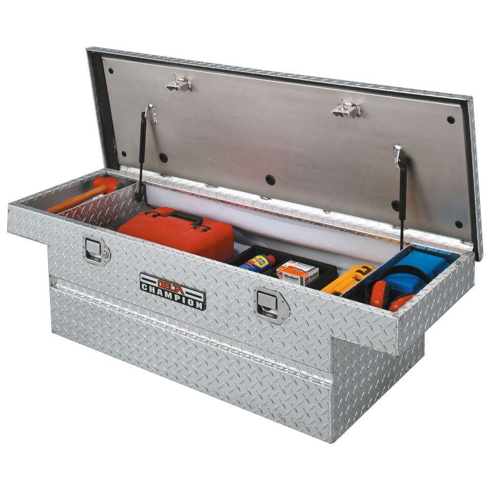 Truck Chest Tool Box >> Delta 60 Diamond Plate Steel Full Size Crossbed Truck Tool Box