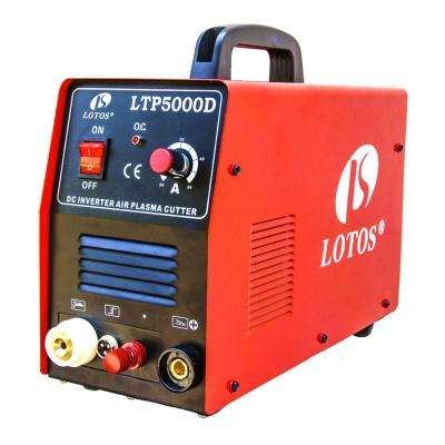 50 Amp Non-Touch Pilot Arc Inverter Plasma Cutter for Metal, Dual Voltage 110V/220V, 1/2 inch Clean Cut