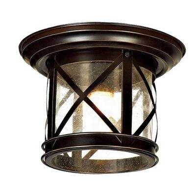 Elli Sandy Black 1-Light Outdoor Flushmount