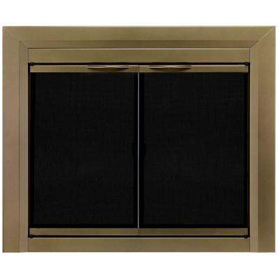 Brass Fireplace Doors Fireplaces The Home Depot