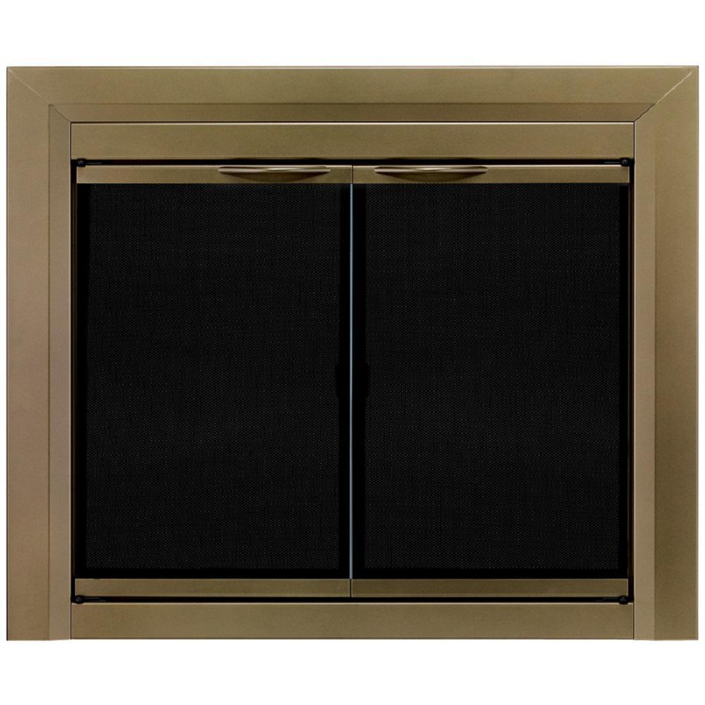 Pleasant Hearth Fieldcrest Medium Glass Fireplace Doors Fc 5903