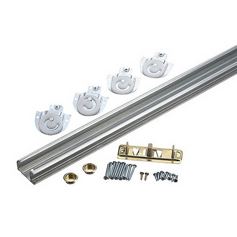 96 in. Steel Bypass Door Hardware Kit