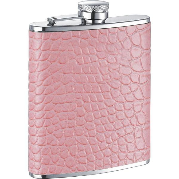 Visol Annabella Light Pink Synthetic Leather Hip flask VF1179NP