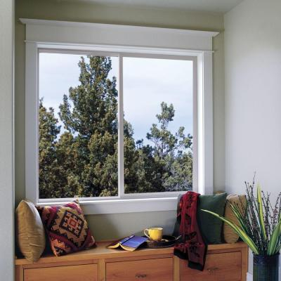 47.5 in. x 47.5 in. V-2500 Series Desert Sand Vinyl Left-Handed Sliding Window with Fiberglass Mesh Screen