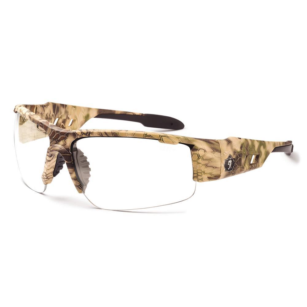 Skullerz Dagr Kryptek Highlander Safety Glasses, Clear Lens - ANSI Certified