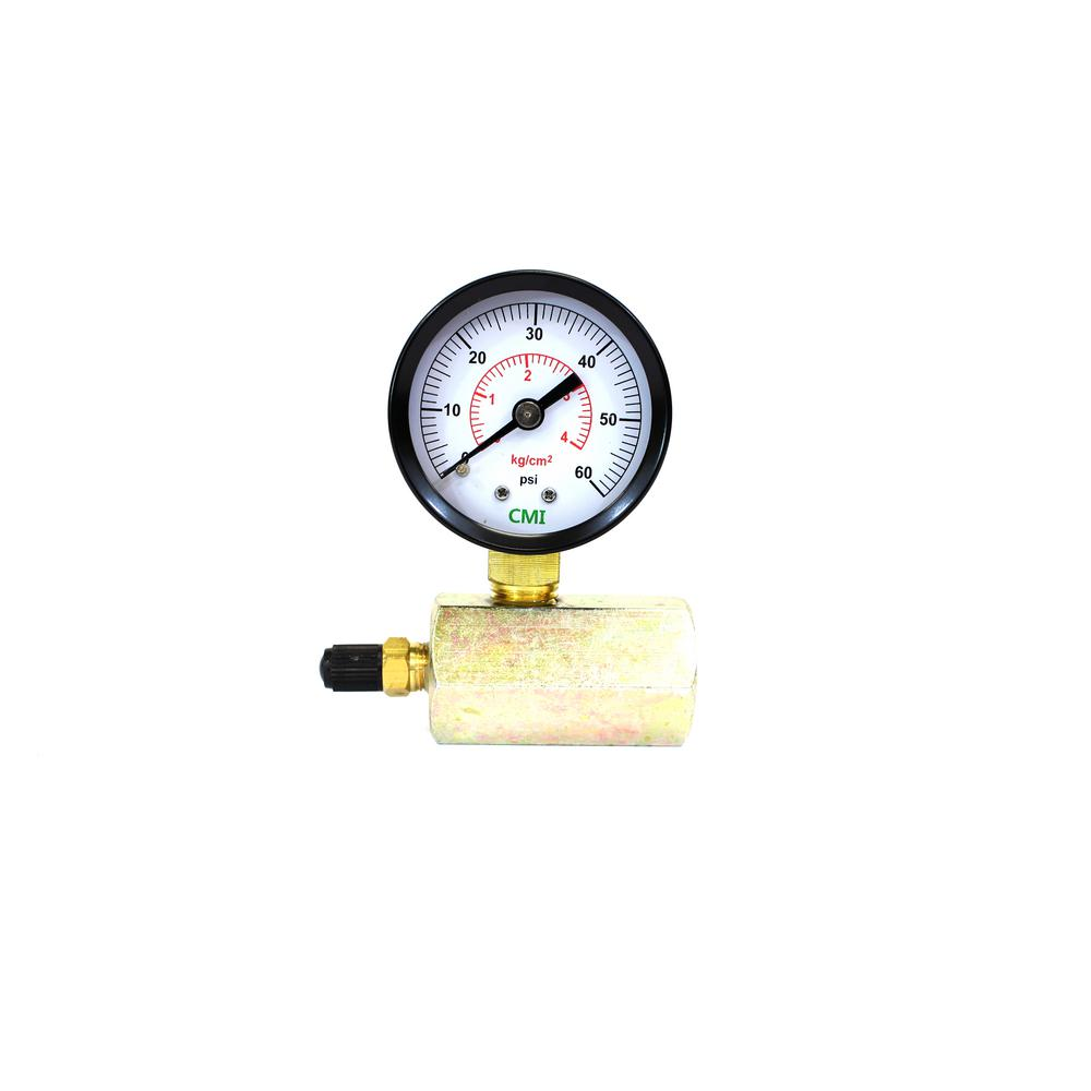 CMI inc 0 - 60 psi 2 in  Dial 3/4 in  Brass FNPT Gas Test Gauge (2-Pack)