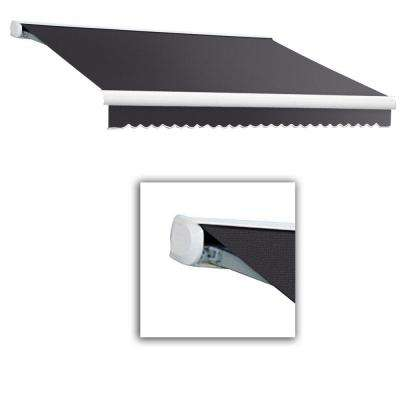 8 ft. Key West Full-Cassette Left Motor Retractable Awning with Remote (84 in. Projection) in Gun