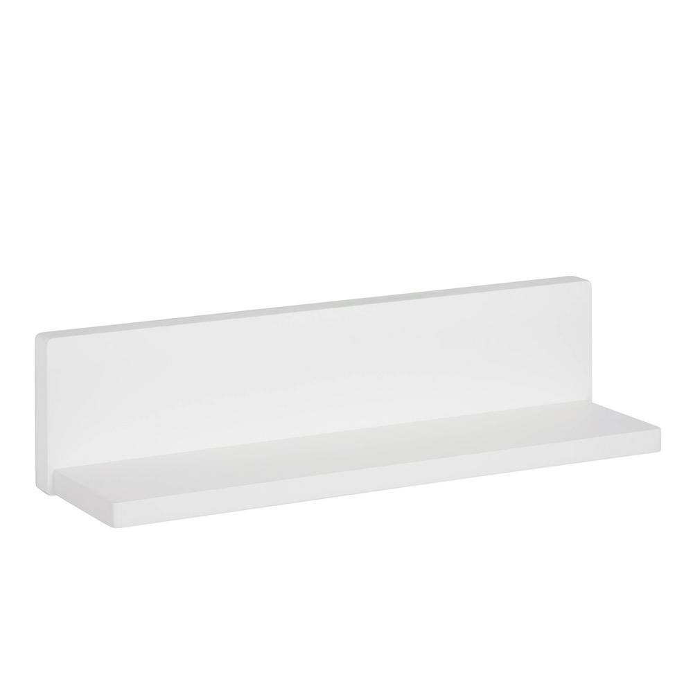 L-Shape White Wall Shelf Decorative Shelf-SHF-04395 - The Home Depot