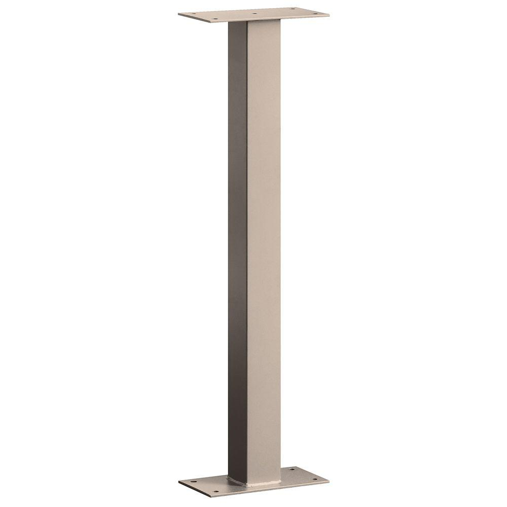 4000 Series Bolt Mounted Mail House Post in Beige