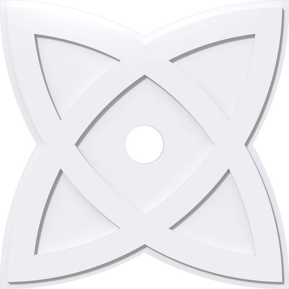 30 in. OD x 4 in. ID x 1 in. P Cosmo Architectural Grade PVC Contemporary Ceiling Medallion
