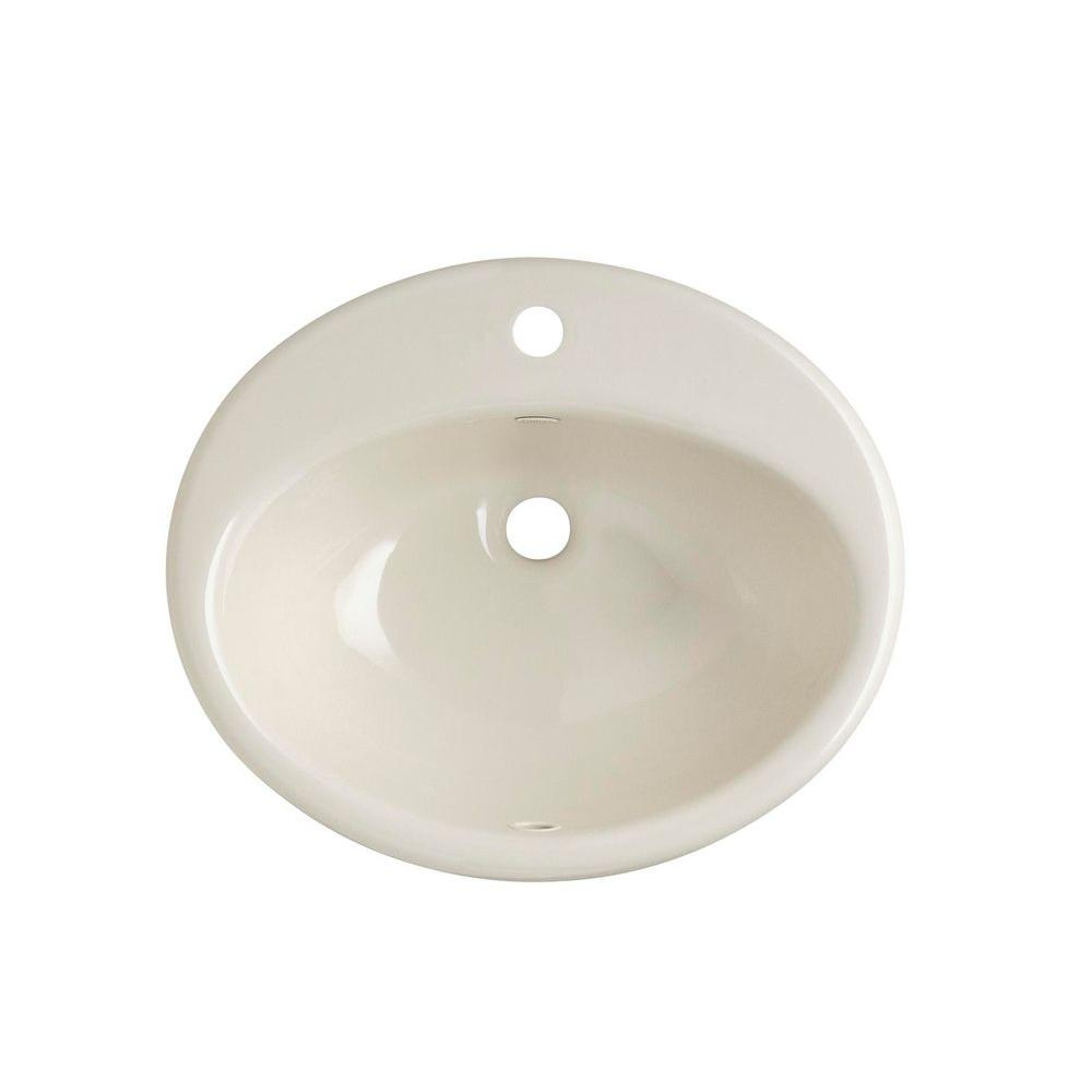 Kohler Farmington Drop In Cast Iron Bathroom Sink In Almond With Overflow Drain K 2905 1 47