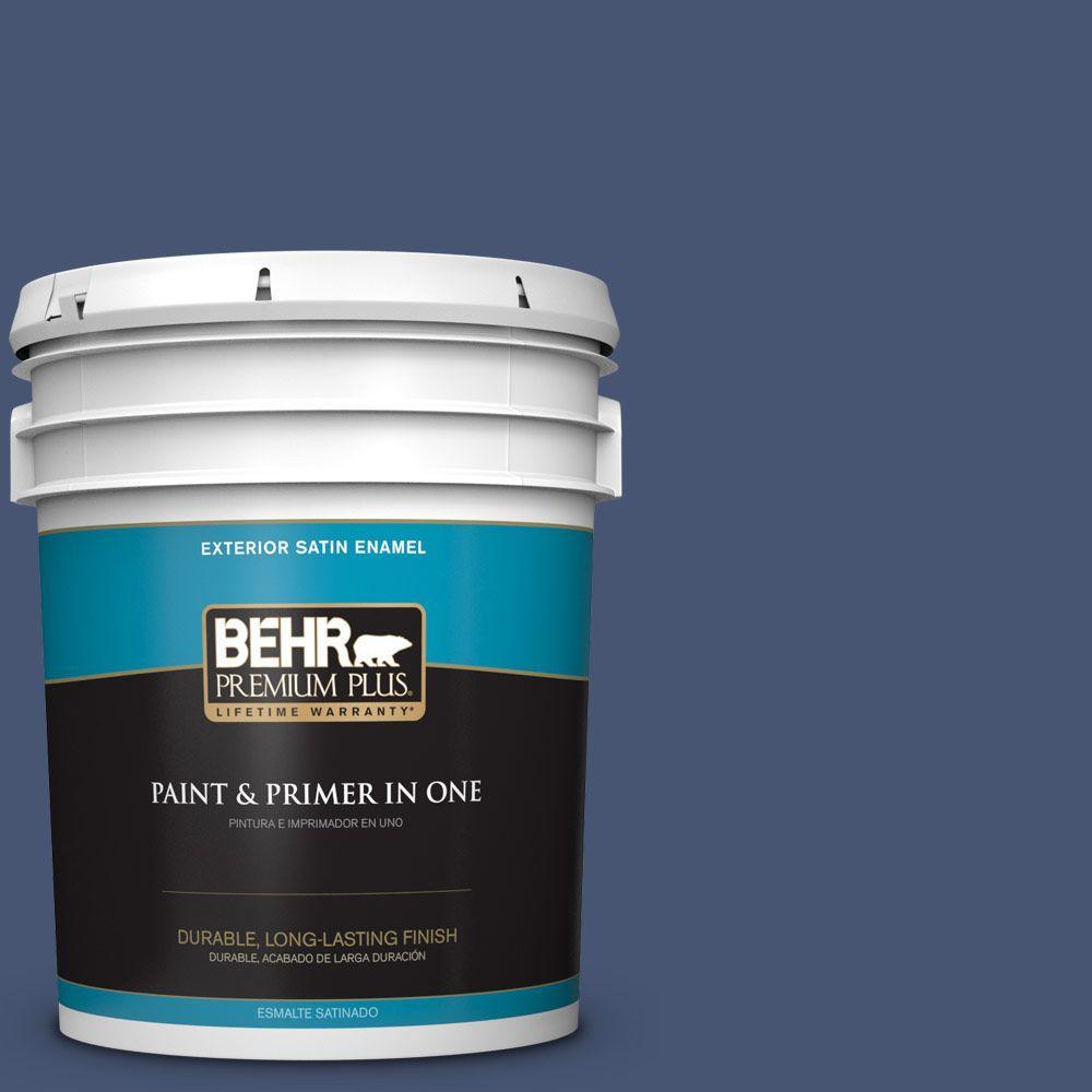 BEHR Premium Plus Home Decorators Collection 5-gal. #HDC-WR14-7 Hidden Sapphire Satin Enamel Exterior Paint