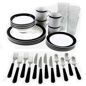 Deals on Gibson Home Total Kitchen Essex 32-Piece Combo Dinnerware Set