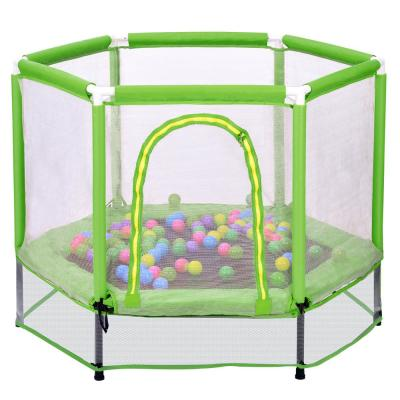 55-inch Trampoline w/ Safety Enclosure Net and Balls for Kids - LMS197020AAF
