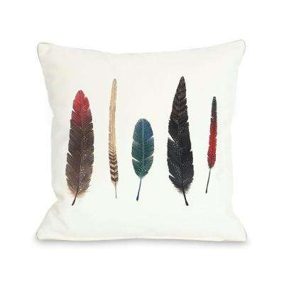 Feathers 2 16 in. x 16 in. Decorative Pillow