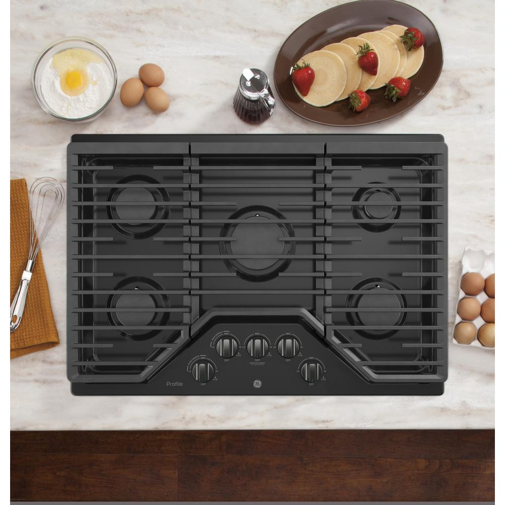Ge Profile 30 In Gas Cooktop Black