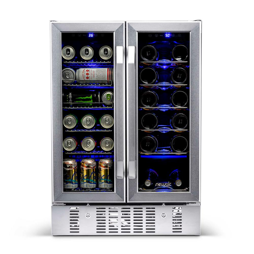Newair 23 5 In 18 Bottle And 60 Can Dual Zone Built In