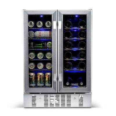 23.5 in. 18-Bottle and 60 Can Dual Zone Built-In Compressor Wine and Beverage Cooler