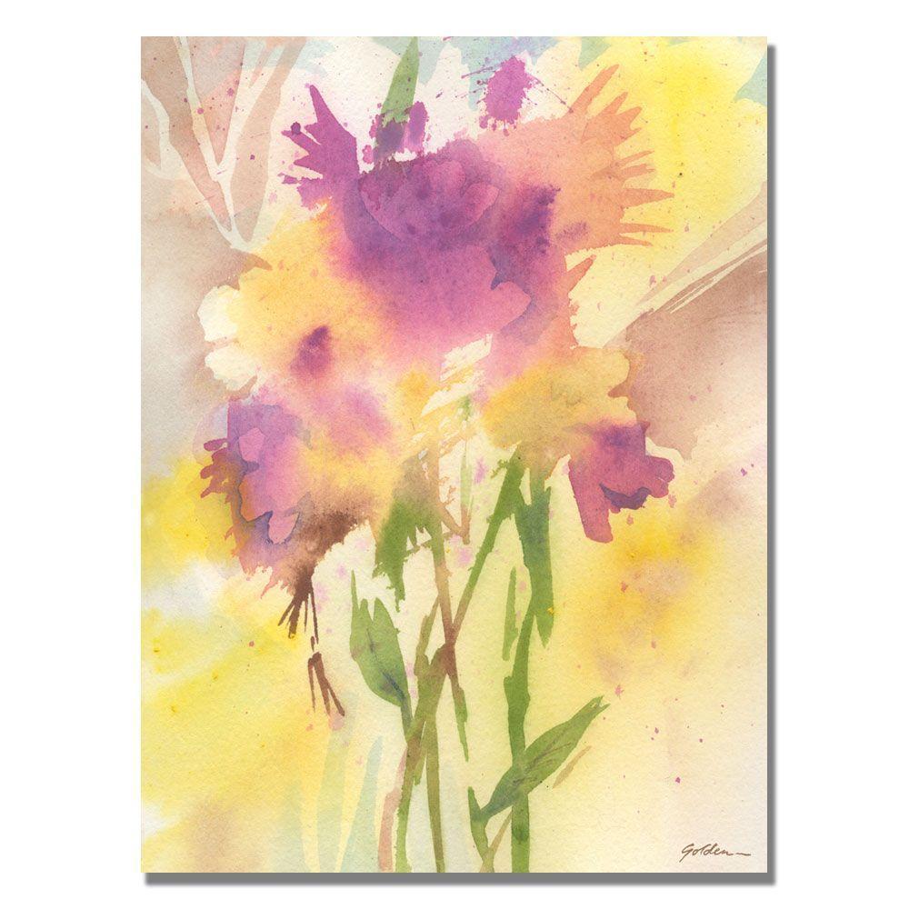 Trademark Fine Art 35 in. x 47 in. Maroon Shades Canvas Art