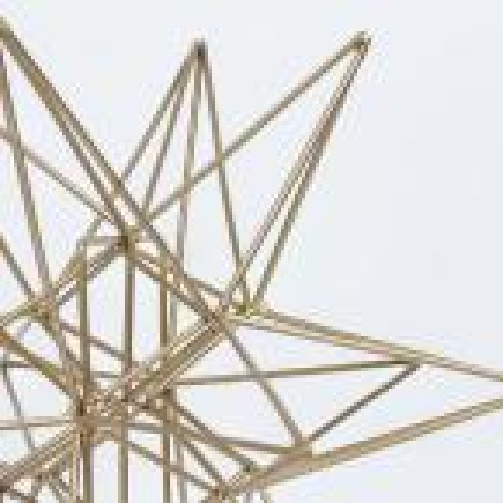 Crystal Art Gallery Metal Star Small Sculpture