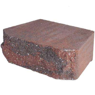 4 in. x 11.75 in. x 6.75 in. Oaks Blend Concrete Retaining Wall Block