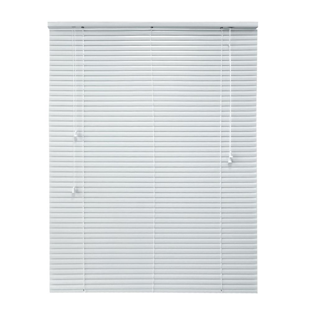 White 1 in. Room Darkening Aluminum Mini Blind - 58 in.