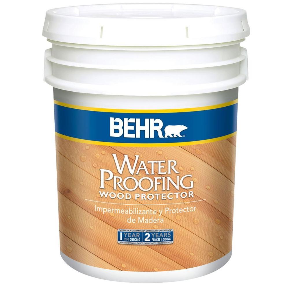 BEHR 5 gal. Natural Waterproofing Wood Protector