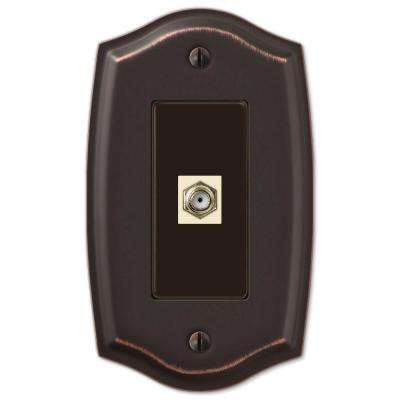 Sonoma 1 Coaxial Wall Plate - Aged Bronze