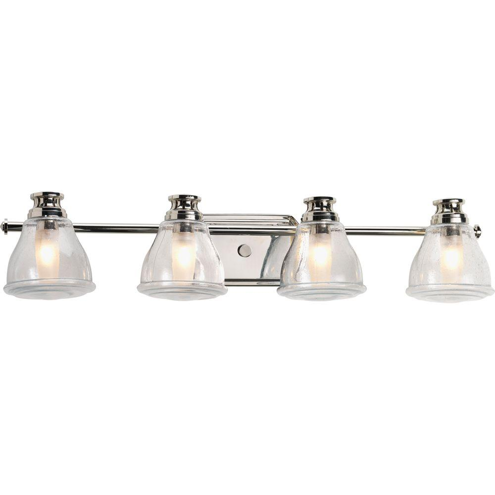 Progress Lighting Academy Collection Light Polished Chrome Vanity - Chrome 5 light bathroom fixture