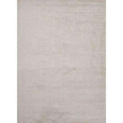 Marvelous Snow White 5 ft. x 8 ft. Solid Area Rug