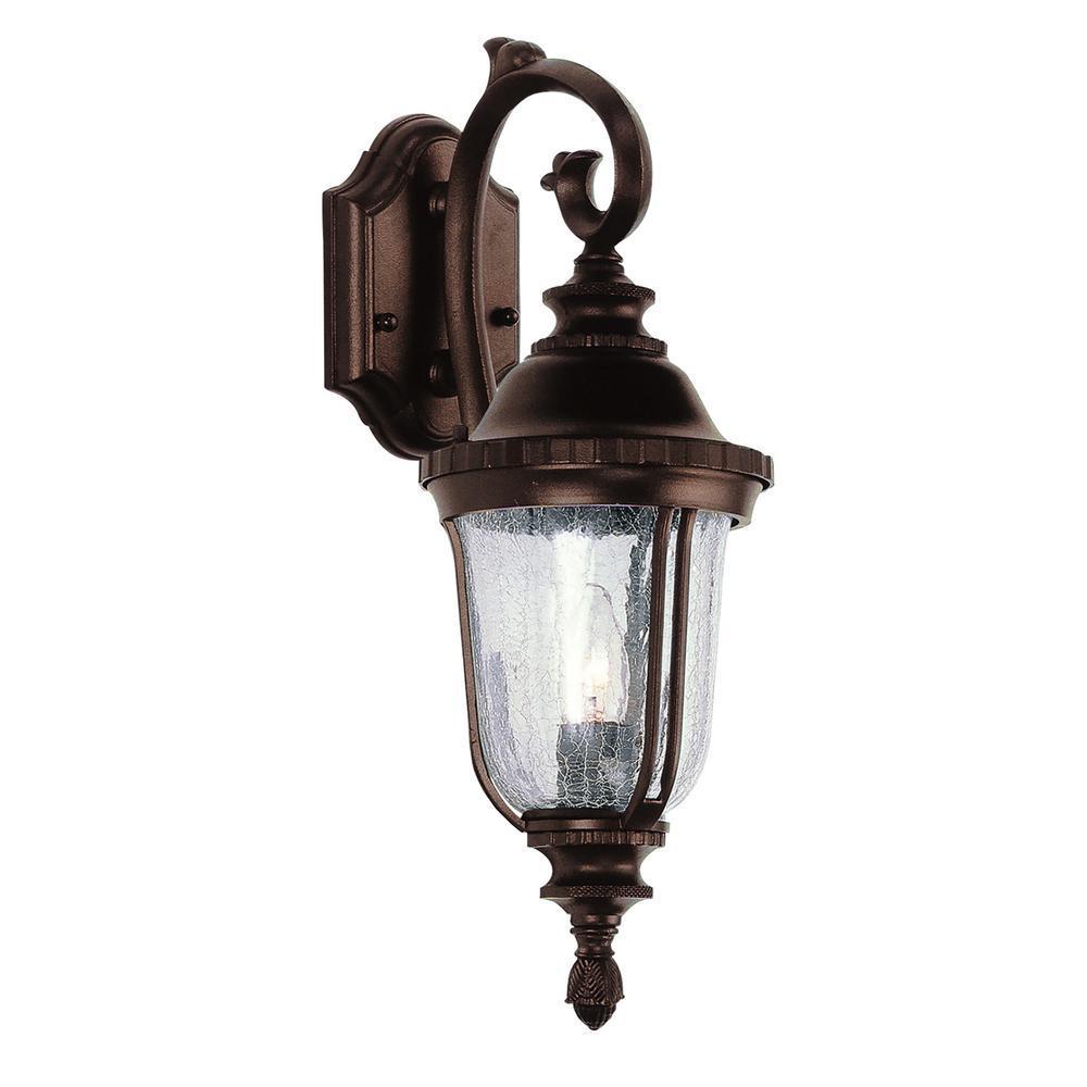 Chessie 1-Light Rust Outdoor Wall Mount Lantern