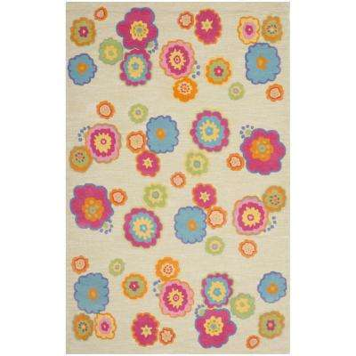 floral area rug 5 x 8 dining room living room kids light greenmulti ft area rug dining room floral rugs the home depot