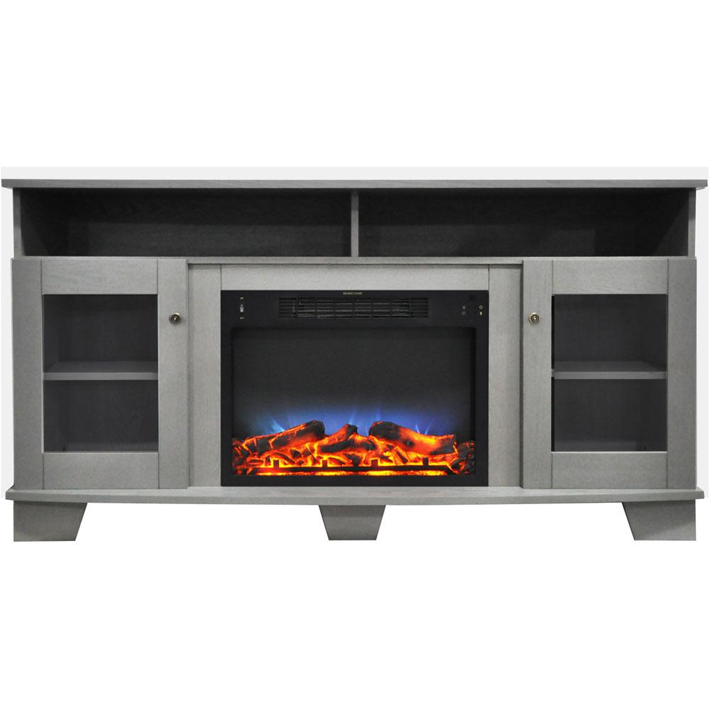 Cambridge Savona 59 In Electric Fireplace In Gray With