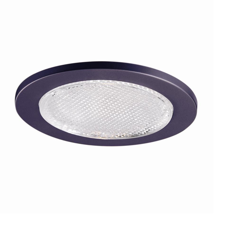 Halo 5 in. White Recessed Ceiling Light Shower Trim with Frosted ...
