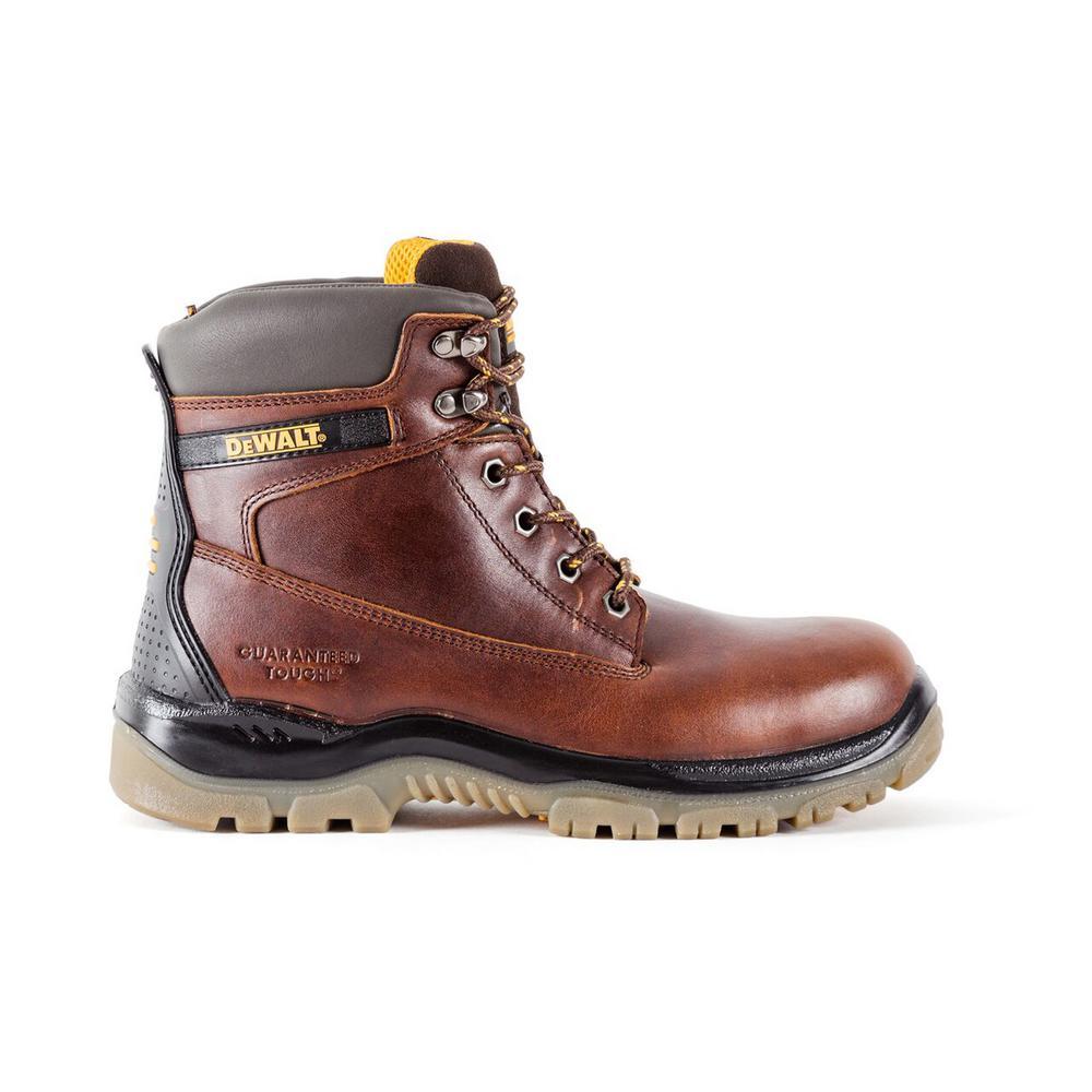 Titanium Men Brown Leather Steel Toe 6 in. Work Boot