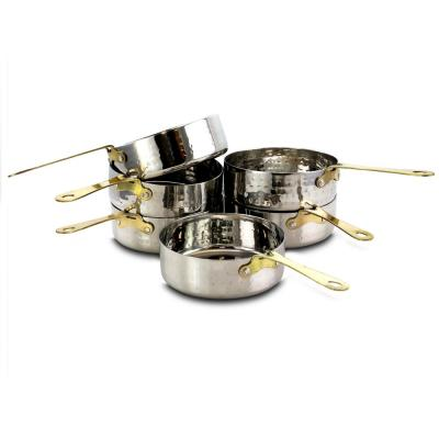 Lannister 6-Piece 4.5 in. Mini Frying Pan with Gold Plated Handle