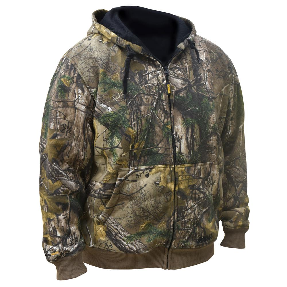 Unisex Small Real Tree Camo Hoodie with 20-Volt MAX and 12-Volt MAX Battery
