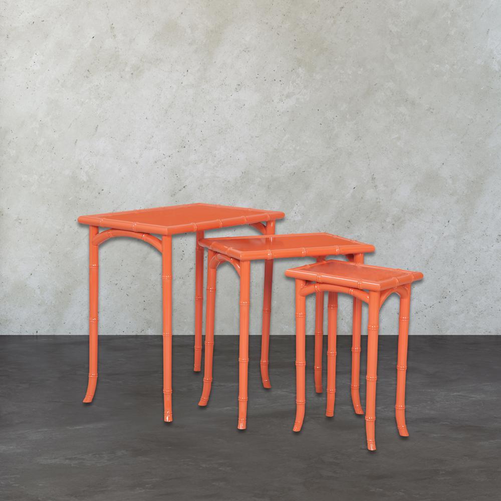 Loft Tangerine 3-Piece Nesting End Table