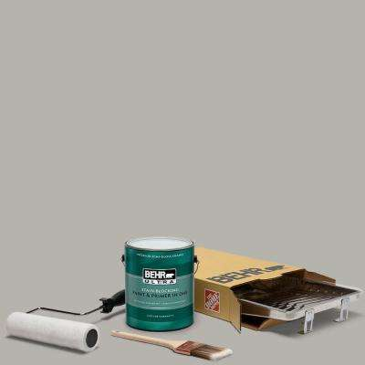 1 gal. #PPU24-11 Greige Ultra Semi-Gloss Enamel Interior Paint and 5-Piece Wooster Set All-in-One Project Kit