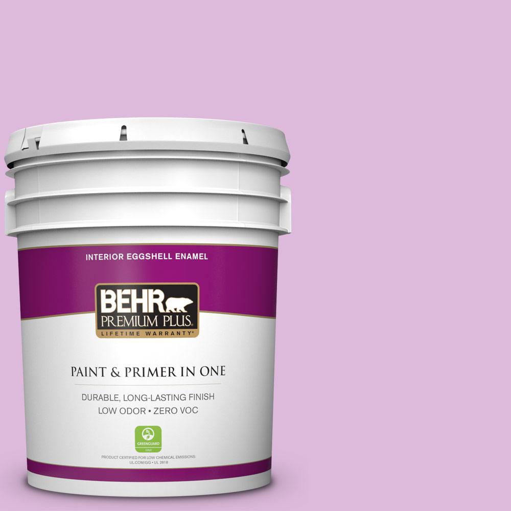 BEHR Premium Plus 5 gal. #670A-3 Posies Eggshell Enamel Zero VOC Interior Paint and Primer in One