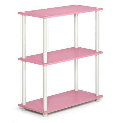 Turn-N-Tube Compact Pink/White Open Bookcase